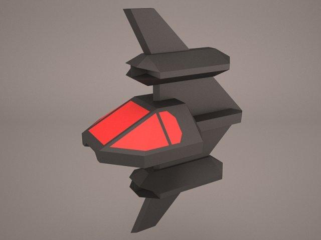 SciFi Fighter 3D Model