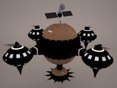 Drift Space Station 3D Model