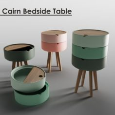 Cairn Bedside Table 3D Model
