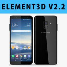 E3D – Samsung Galaxy A8 Plus 2018 Black 3D 3D Model