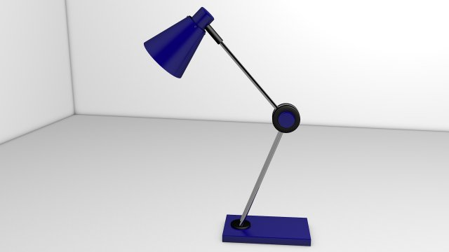 TABLE LAMP SIMPLE AND SLIM TABLE LAMP 3D MODELING 3D Model