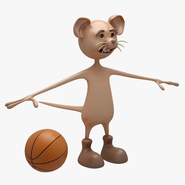 Cartoon Mouse NOT RIGGED 3D Model