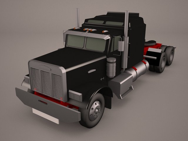 Kenworth W900 With Trailer 3D Model