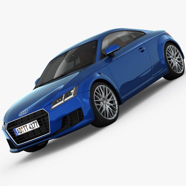 Audi TT Coupe 2015 detailed interior 3D Model