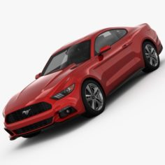 Ford Mustang 2015 detailed interior 3D Model