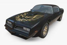 Pontiac Firebird 1977 3D Model