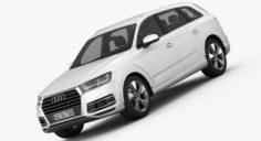 Audi Q7 2016 detailed interior 3D Model