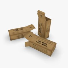 US K-Ration boxes 3D Model
