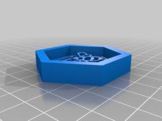 Honey Bee Fridge Magnet 3D Print Model