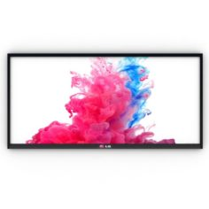 Flat Screen Wall TV 3D Model