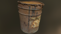Old rusty oil barrel can 3D Model