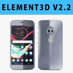 E3D – Motorola Moto X4 Sterling Blue 3D 3D Model