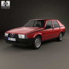 Alfa Romeo 75 1985 3D Model