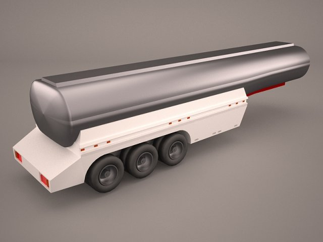 Kenworth W900 With Trailer Tanker 3D Model