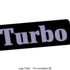 Turbo logo 3D Print Model