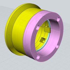 Arri-S lens to Sony E-mount (NEX) adapter 3D Print Model