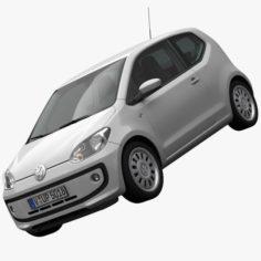 Volkswagen up 2013 detailed interior 3D Model