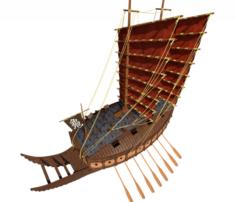 Turtle ship 3D Model