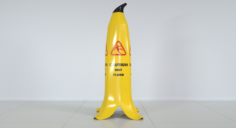 Caution Wet Floor Banana 3D Model