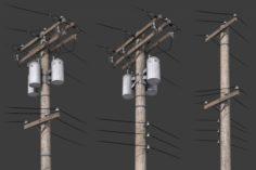 Telegraph Pole 3D Model