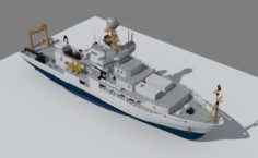Marine climate research vessel 3D Model