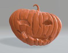 Pumpkin Lamp Jack 3D Model