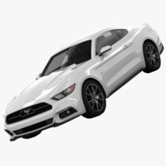 Ford Mustang 50 Year Limited Edition detailed interior 3D Model