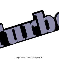 Dashboard Turbo logo 3D Print Model
