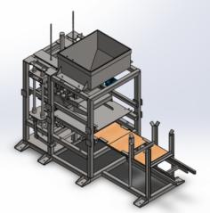 Concrete Block Making Machine 3D Model
