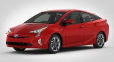 Toyota Prius 2016 detailed interior 3D Model