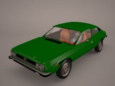 Lancia Beta Montecarlo 1975 3D Model