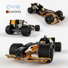 Lego Technic Black Champion Racer 3D Model