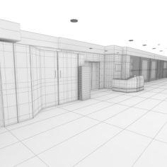 Commercial area 3D Model