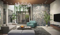 Tropical living room 3D Model
