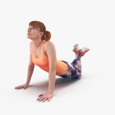 Fitness Woman Stretching 3D Model