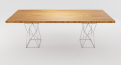 Geometric Shape Wooden Table 3D Model