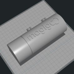 Magigoo Corporate Hinged Gift Delivery Box 3D Print Model