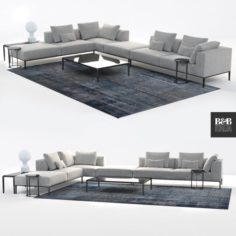 B and B Italia sofa michel effe 3D Model