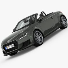 Audi TT Roadster 2015 detailed interior 3D Model