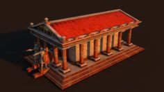 Ancient Temple Rome 3D Model
