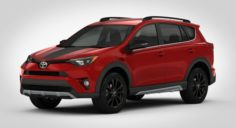 Toyota RAV4 Adventure 2018 detailed interior 3D Model