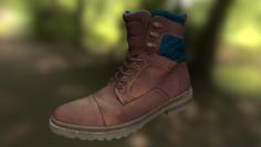 Boot low poly model 3D Model