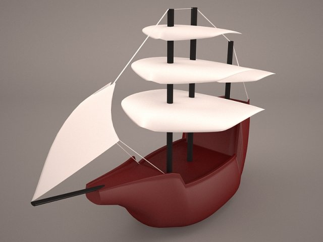 Great dutch Ship 3D Model