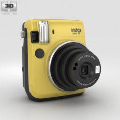 Fujifilm Instax Mini 70 Yellow 3D Model