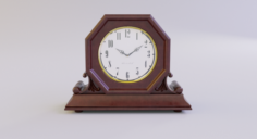 Fireplace Table Clock 3D Model