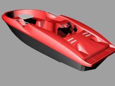 Speedboat motorboat model 3D Model