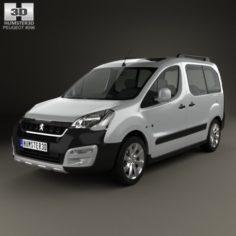 Peugeot Partner Tepee Outdoor 2015 3D Model