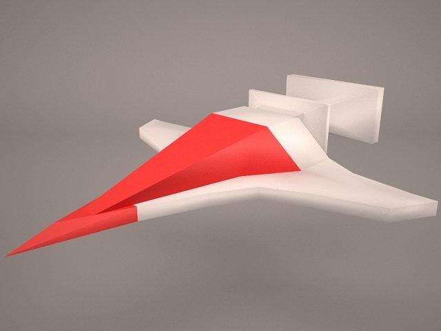 SciFi Fighter Free 3D Model