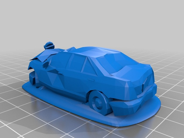 Wrecked Car 3d Print Model 3dhunt Co