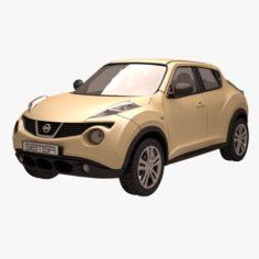 Nissan Juke 04 Yellow 3D Model